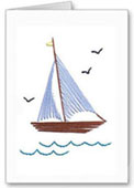 boat stitch card pattern